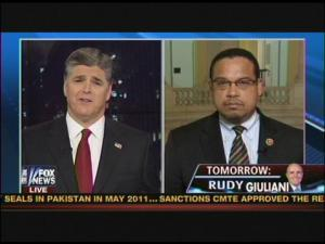 photo image Thing of Beauty: Rep. Keith Ellison Lets Sean Hannity Have It