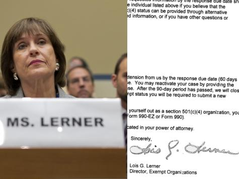 IRS Lerner Signed Tea Party…