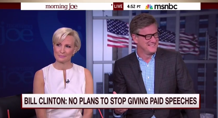 MSNBC Mocks Bill Clinton's 'Gotta Pay Our Bills' Defense of Making $500k for a Speech (VIDEO)