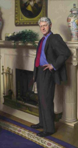 Clinton's Portrait Has Hint Of…