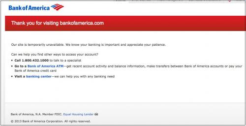 photo image Breaking: Bank of America Computer Systems Down Across US
