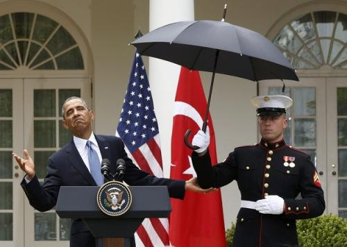 10 Presidents With Umbrellas