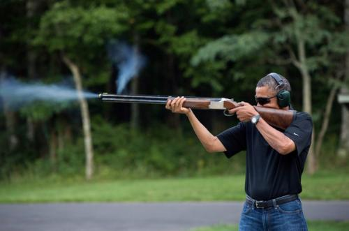 photo image This Is What The Internet Does To A Photo Of Obama Shooting A Gun